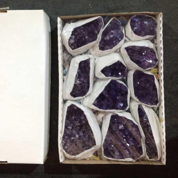 Amethyst Clusters Uruguay Box