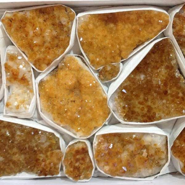 Wholesale citrine cluster box