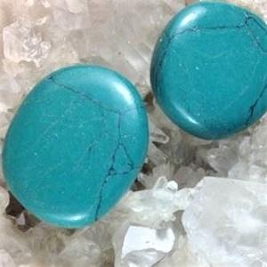 Flat Stones Blue Howlite Flat Stone