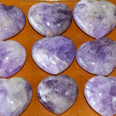 Hearts - by weight Amethyst Heart