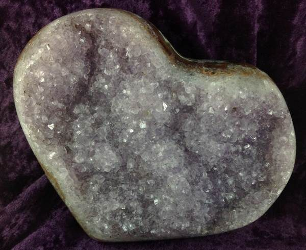 Hearts - by weight Amethyst Cluster Heart