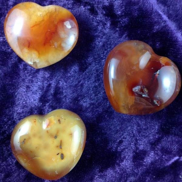 Hearts - by weight Carnelian Heart