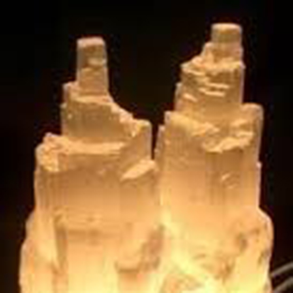 Lamps Lamp Selenite Twin Tower