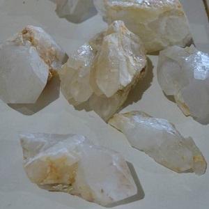 Natural Points Clear Quartz Teeth (Madagascar)