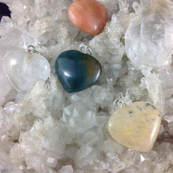 Jewellery Pendant Heart Assorted Stone