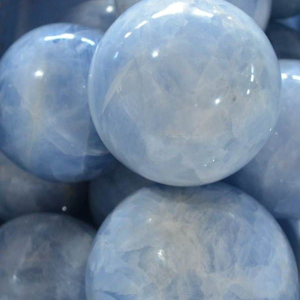 Spheres - by weight Blue Calcite Sphere