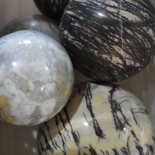Spheres - by weight Black Wave Jasper Sphere