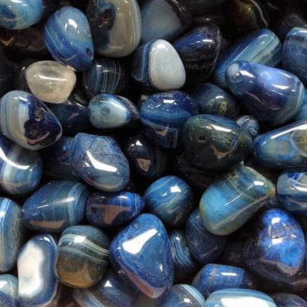 Tumble Stones Agate Dark Blue Tumble Stone