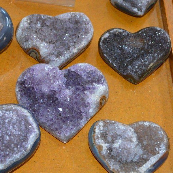 Amethysts Amethyst Rainbow Cluster Heart