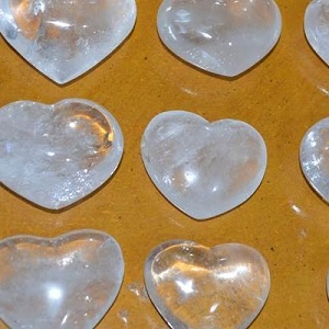 Hearts - by piece Clear Quartz Heart – Large