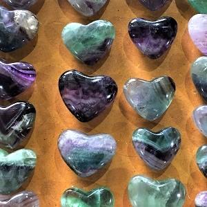 Hearts Fluorite Heart – by weight